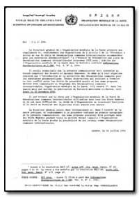 World Health Organization : Year 1994 ; ... by Hiroshi Nakaiima, Dr.