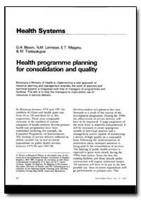 World Health Organization : World Health... by G. H. Bloom