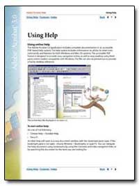 Adobe Acrobat 5. 0 : Using Help by Adobe Systems