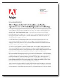 Adobe Appoints Executive to Lead Its Asi... by Adobe Systems