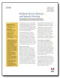 Desktop Service Bureau and Speedy Printi... by Adobe Systems