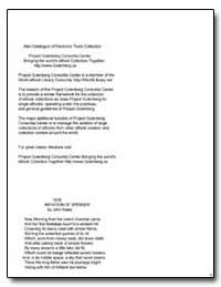 Imitation of Spenser by Keats, John