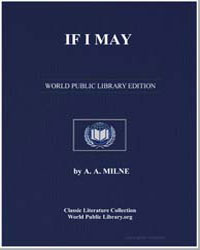 If I May by Milne, Alan Alexander