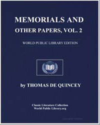 Memorials and Other Papers V2 by De Quincey, Thomas