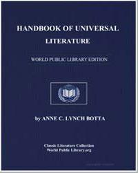Handbook of Universal Literature by Botta, Anne Charlotte Lynch, Mrs.