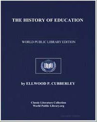 The History of Education by Cubberley, Ellwood P.
