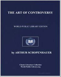 The Art of Controversy by Schopenhauer, Arthur