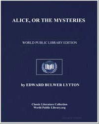 Alice, Or the Mysteries by Lytton, Edward Bulwer