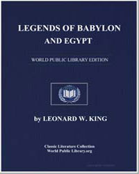 Legends of Babylon and Egypt by King, Leonard W.