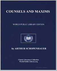 Counsels and Maxims by Schopenhauer, Arthur
