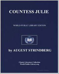 Countess Julie by Strindberg, August