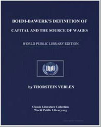 Bohmbawerk's Definition of Capital and t... by Veblen, Thorstein