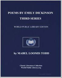 Poems by Emily Dickinson Third Series by Todd, Mabel Loomis
