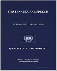 First Inaugural Speech by Roosevelt, Franklin Delano