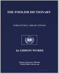 The Foolish Dictionary by Wurdz, Gideon