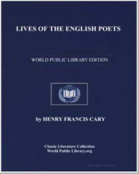 Lives of the English Poets by Cary, Henry Francis
