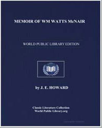 Memoir of Wm Watts Mcnair by Howard, J. E.