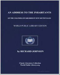 An Address to the Inhabitants of the Col... by Johnson, Richard