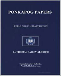 Ponkapog Papers by Aldrich, Thomas Bailey
