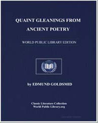 Quaint Gleanings from Ancient Poetry by Goldsmid, Edmund