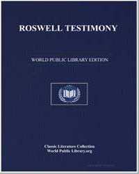 Roswell Testimony by