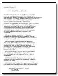 Nuba Mountains Crisis by