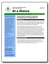 Brownfields Competition Process for Awar... by Environmental Protection Agency