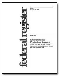 Part III United States Environmental Pro... by Environmental Protection Agency