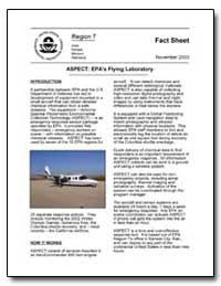 Aspect : Epa's Flying Laboratory by Environmental Protection Agency