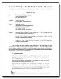 Addendum to Final Report for Work Assign... by Johnson, Robert J.