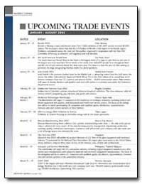 Upcoming Trade Events by Costa, Molly