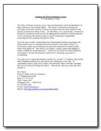 Guidance for Private Donations to Iraq by Eberly, Don