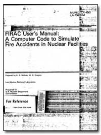 Firac User's Manual : A Computer Code to... by Nichols, B. D.