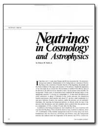 Neutrinos in Cosmology and Astrophysics by Kolb, Edward W.