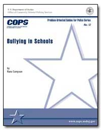 Bullying in Schools by Sampson, Rana