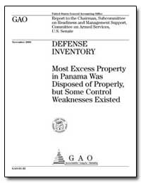 Defense Inventory Most Excess Property i... by Holman, Barry W.