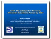 Voip : The Catalyst for Universal, Affor... by Gallagher, Michael D.