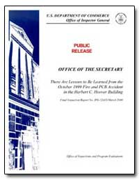 Office of the Secretary There Are Lesson... by Department of Commerce