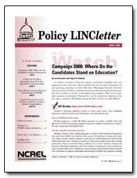 Policy Lincletter Campaign 2000: Where D... by Slowinski, Joe