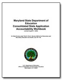 Maryland State Department of Education C... by Sims, Celia