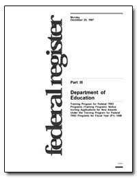 Department of Education [Cfda No. 84. 10... by Longanecker, David A.