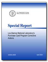Special Report U.S. Department of Energy... by Friedman, Gregory H.
