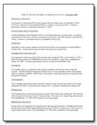 Doe Fy 2002-2003 Studies : Summary Statu... by