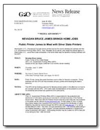 Nevadan Bruce James Brings Home Jobs Pub... by Meter, Veronica
