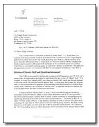 Facta Identity Theft Rule, Matter No. R4... by Blenke, John W.