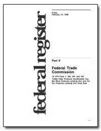 Federal Trade Commission 16 Cfr Parts 1,... by Rodriguez, Edwin