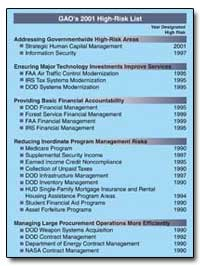 Gao's 2001 High-Risk List by General Accounting Office