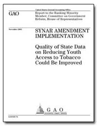 Synar Amendment Implementation Quality o... by General Accounting Office