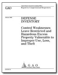 Defense Inventory Control Weaknesses Lea... by General Accounting Office