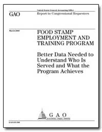 Food Stamp Employment and Training Progr... by General Accounting Office